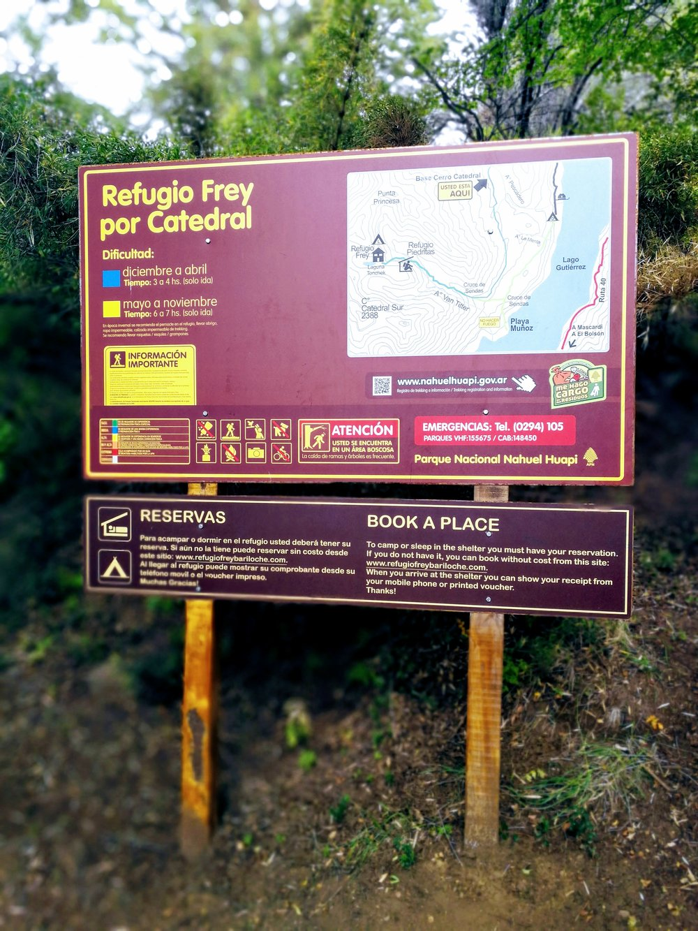 trailhead refugio frey backpacking backpacker hiking guide hike bariloche camping map argentina difficulty about
