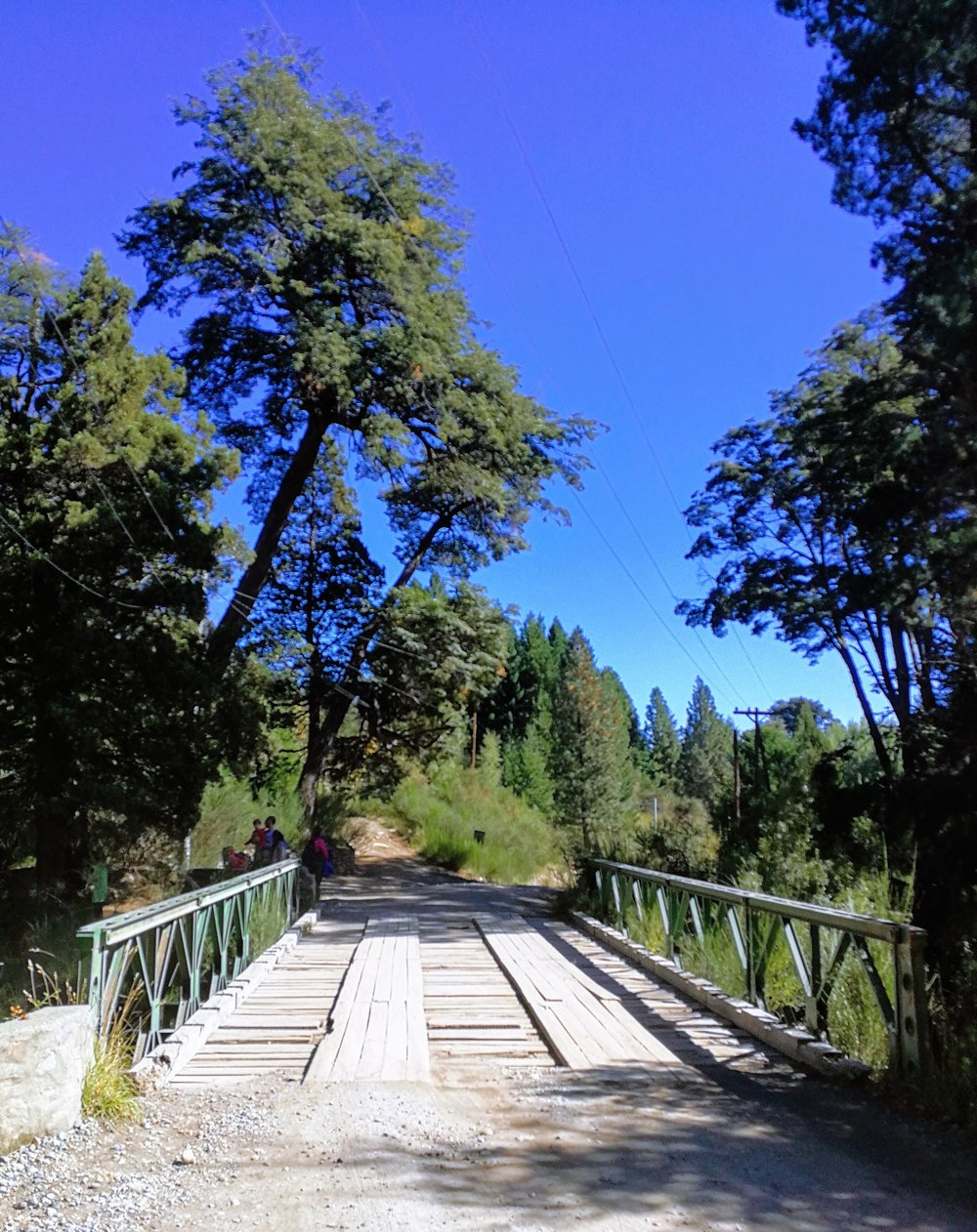 The trailhead to Laguna Negra is 100 meters beyond this bridge crossing Arroyo Goye.