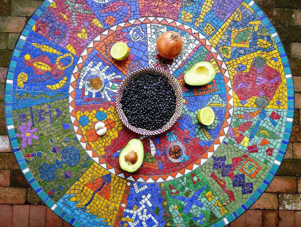 cooking potaje vegana cubano