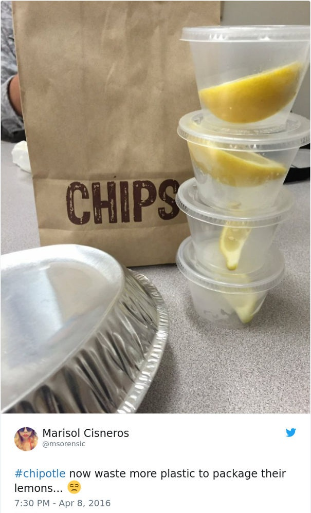 Chipotle wastes excessive plastic - photos that will make you fucking mad if you love the planet