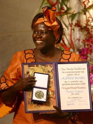 Wangari Maathai (1940-2011) - was an internationally renowned Kenyan environmental political activist who founded the Green Belt Movement and won the 2004 Nobel Peace Prize Laureate.