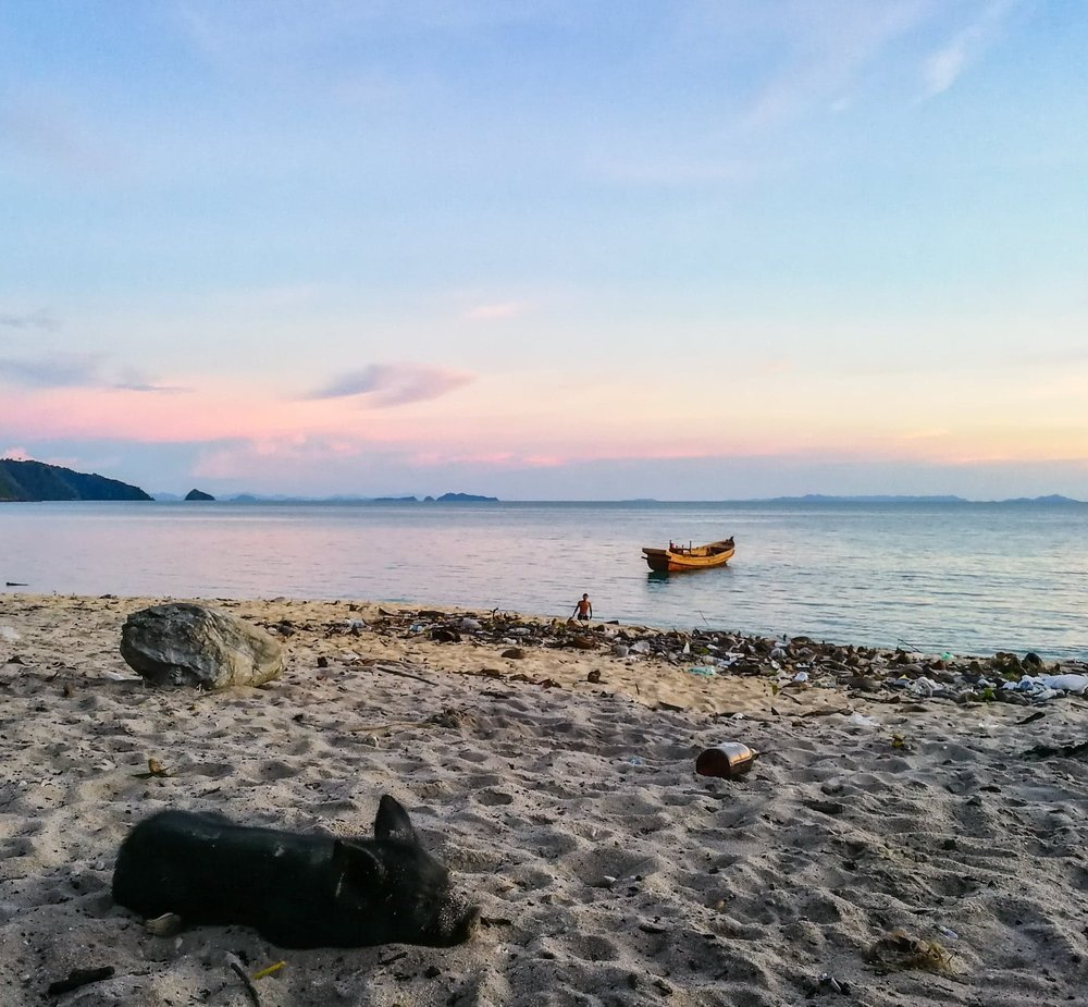 Despite being completely isolated from the mainland and much of the modern world, trash lines the shores of the mot beautiful islands in Myanmar's Mergui Archipelago.