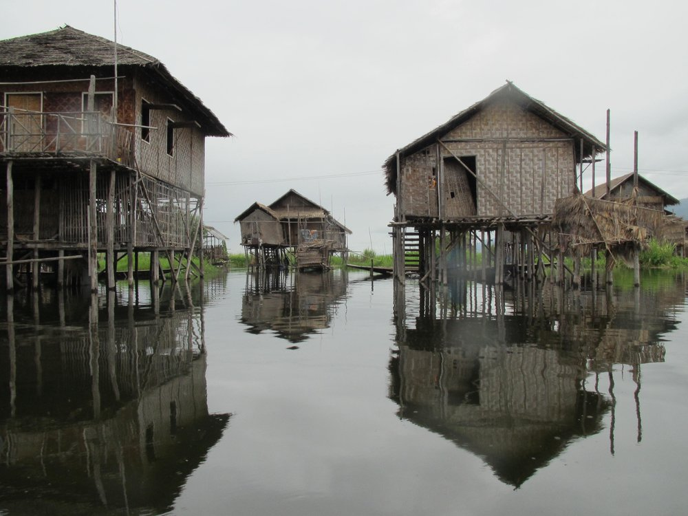 Houses on Inlay Lake.