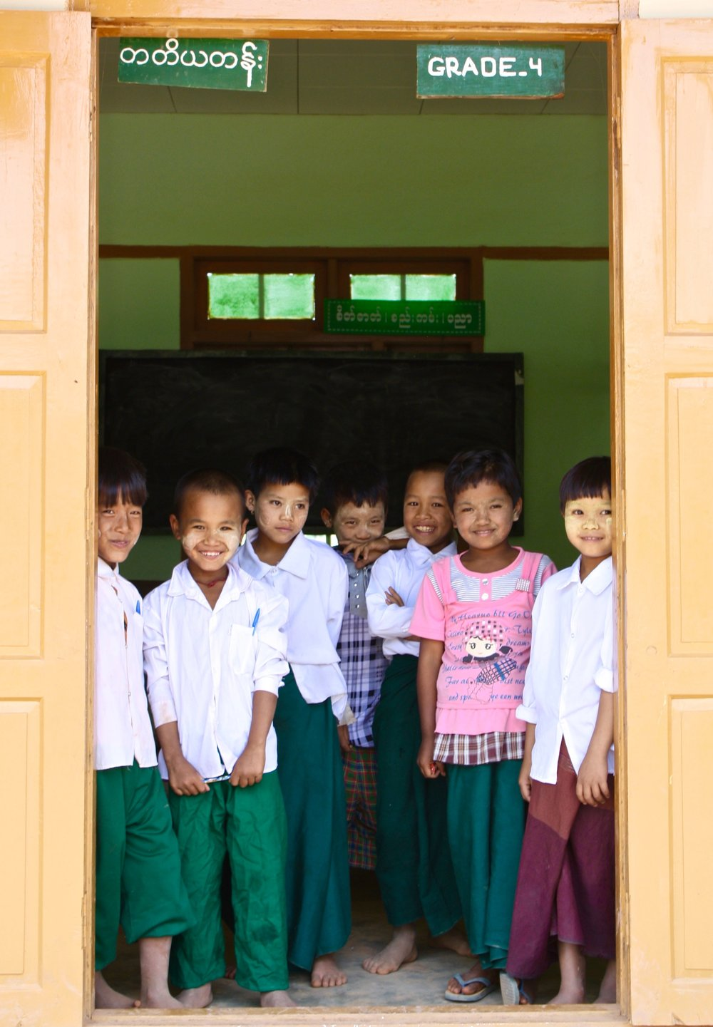 Students from the first school project BSB worked on in 2011 in Nan Auw village in Shan State.
