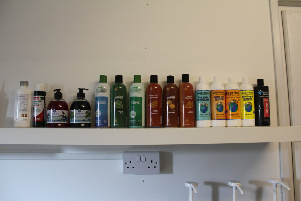 We have various types of natural shampoos and conditioners that cater for all coat and skin types.