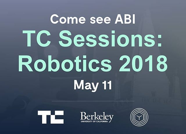We're proud to announce that we'll be exhibiting at TechCrunch Sessions: Robotics 2018. Come to Berkeley on May 11 to get your hands on ABI and learn more. More information on the event can be found on their website https://techcrunch.com/events/tc-sessions-robotics-2018/  To learn more about ABI and Vtrus, visit us at www.vtr.us