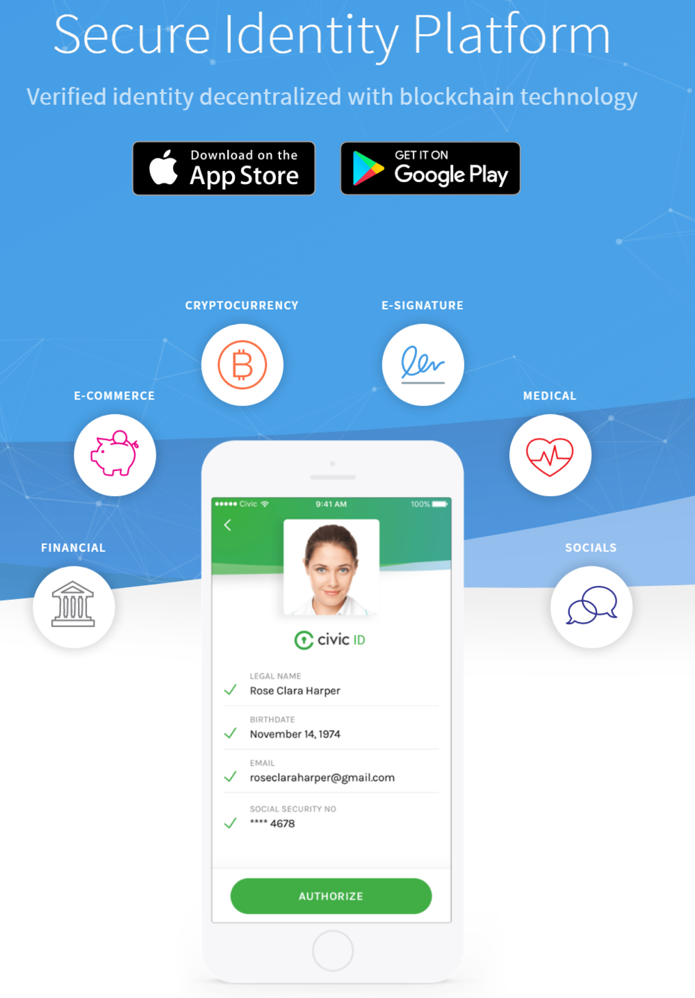 Civic –A secure identity platform