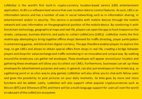 LoMoCoin in 300 words. image from official LoMoCoin-Team on Twitter.