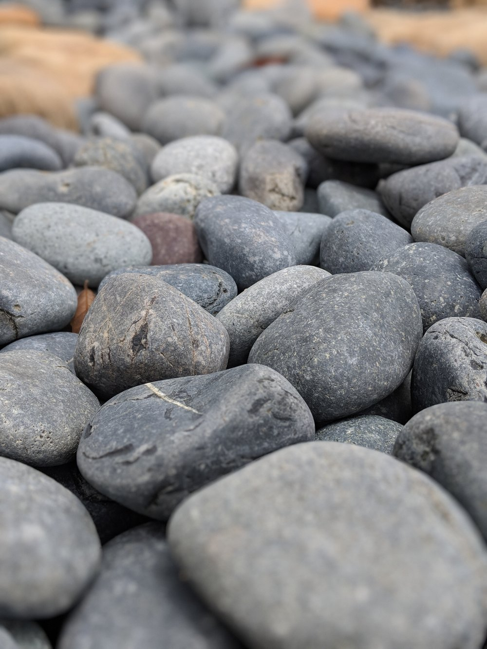 Grey Black Mexican Pebbles