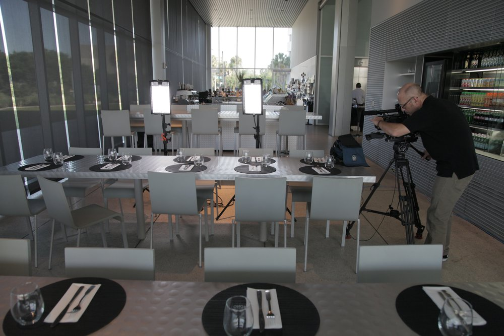 Colin Kelly working with Sony F3 at Tampa Museum of Art.