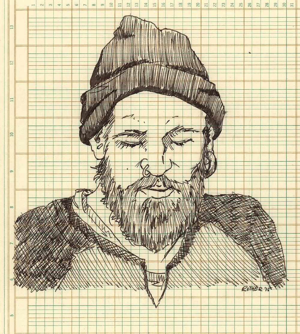 Mathyou // Ballpoint on graph paper