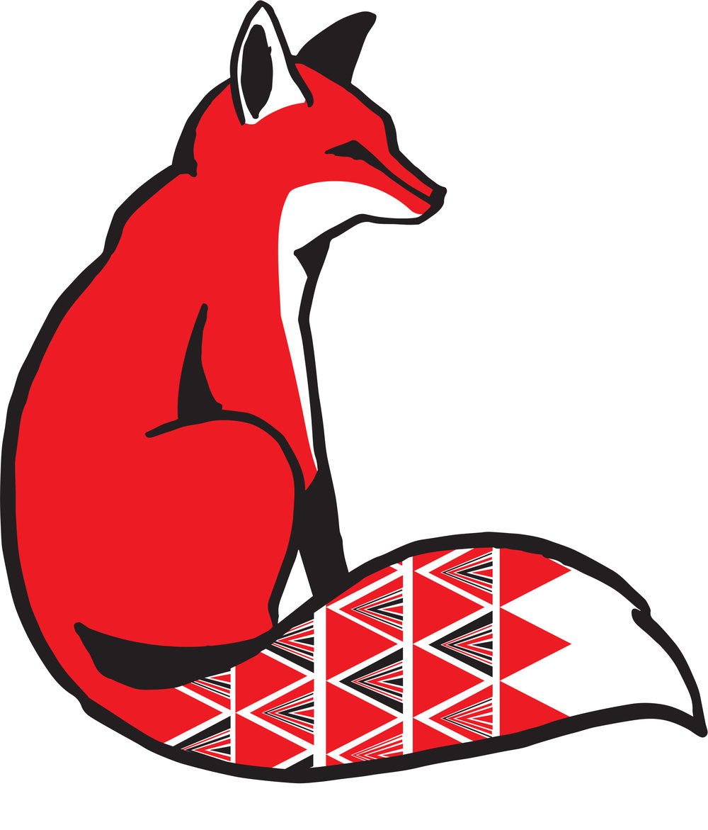 Logo for  Red Fox Market  //Sharpie illustration, digitally edited and colored.