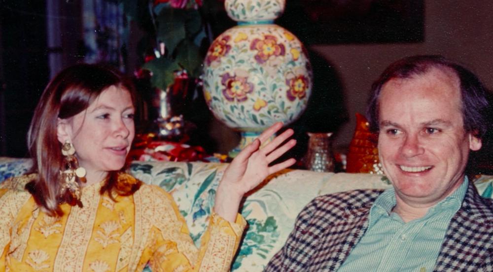 Joan Didion and her husband in their Malibu home