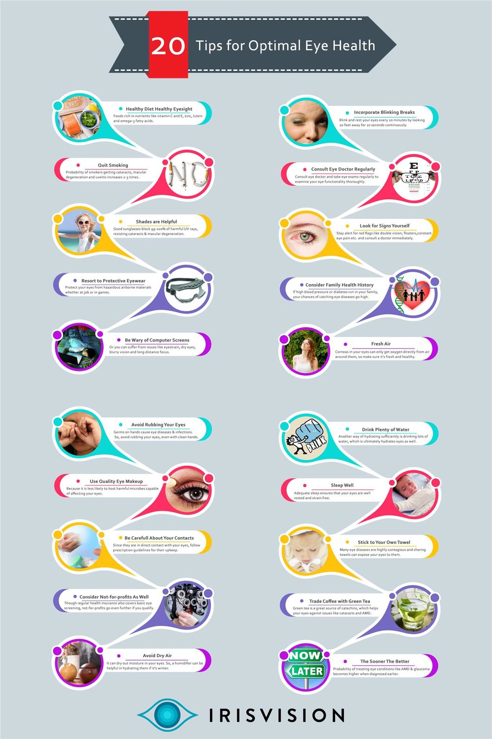 Infographic-20 Tips for Optimal Eye Health