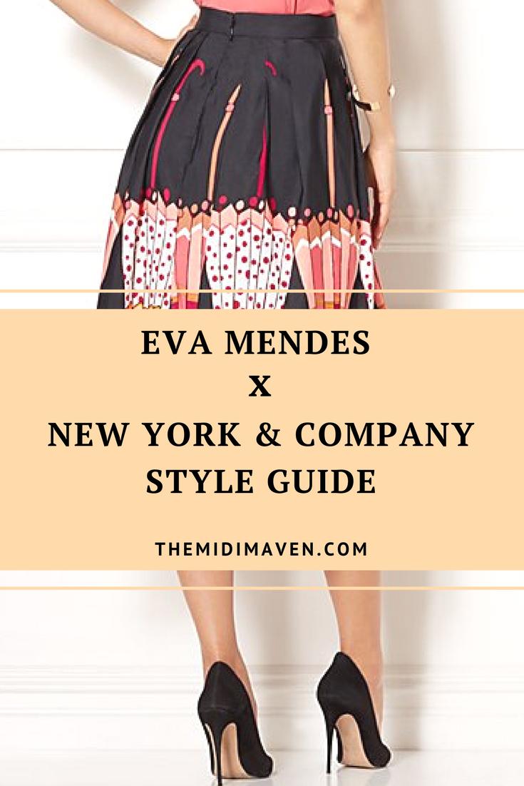 eva mendes x new  york and company style guide - themidimaven.com
