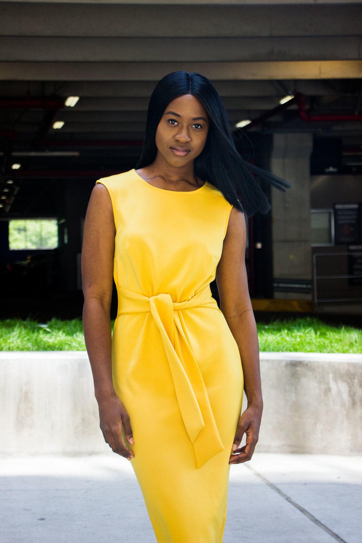 themidimaven goldenrod dress ny&co.