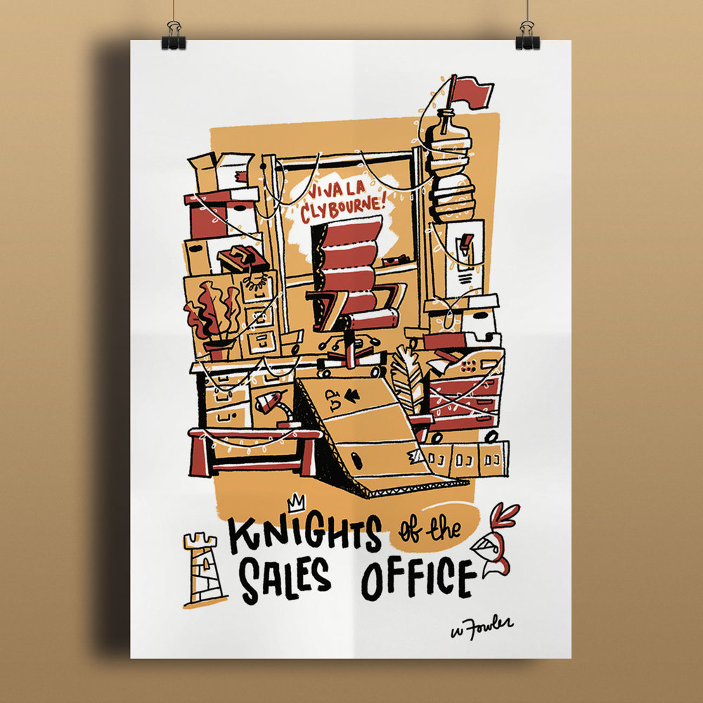 Knights of the Sales Office Poster Design & Illustration