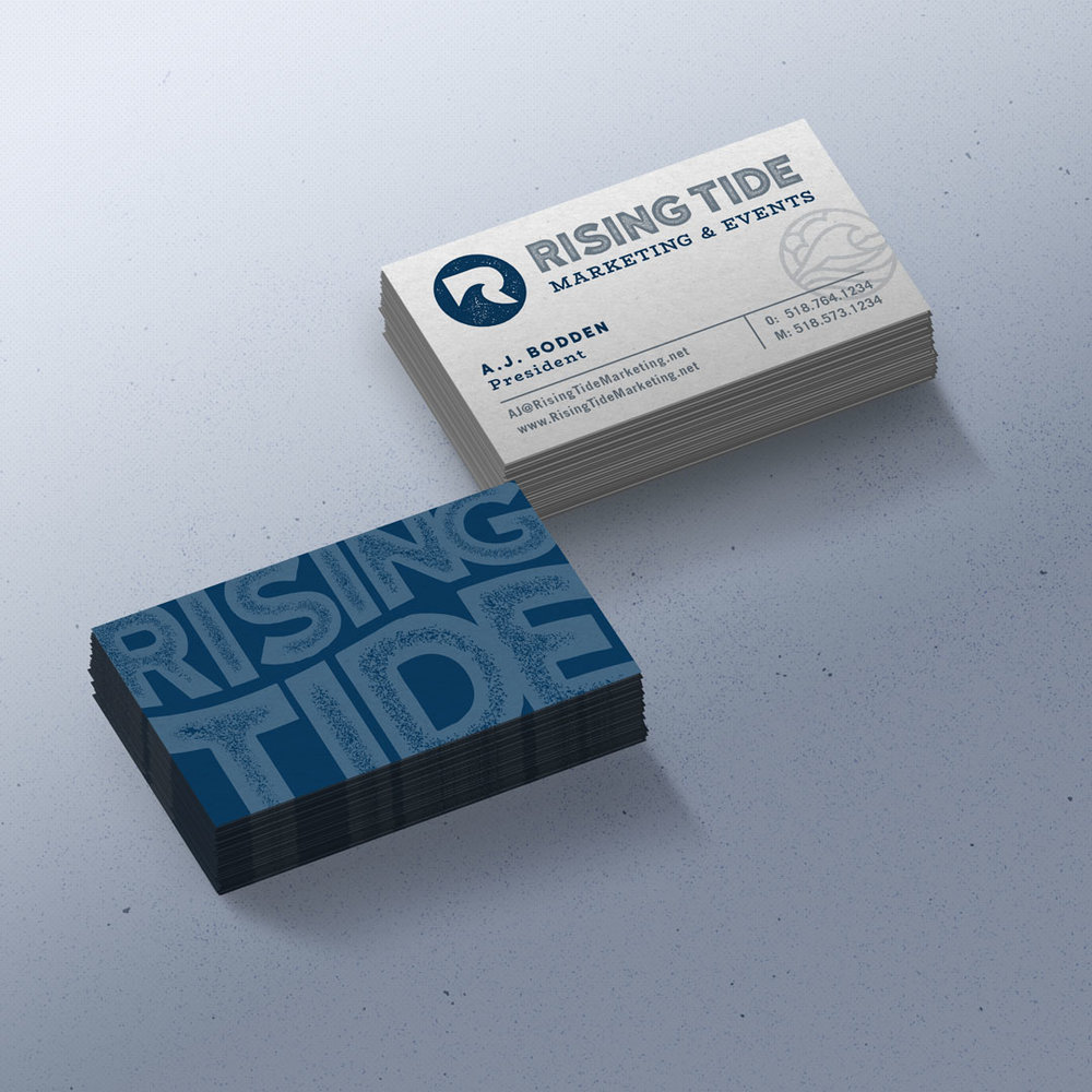 Rising Tide Business Card Design