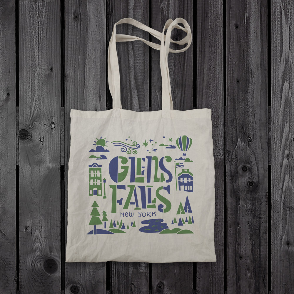 Glens Falls Tote Bag Design
