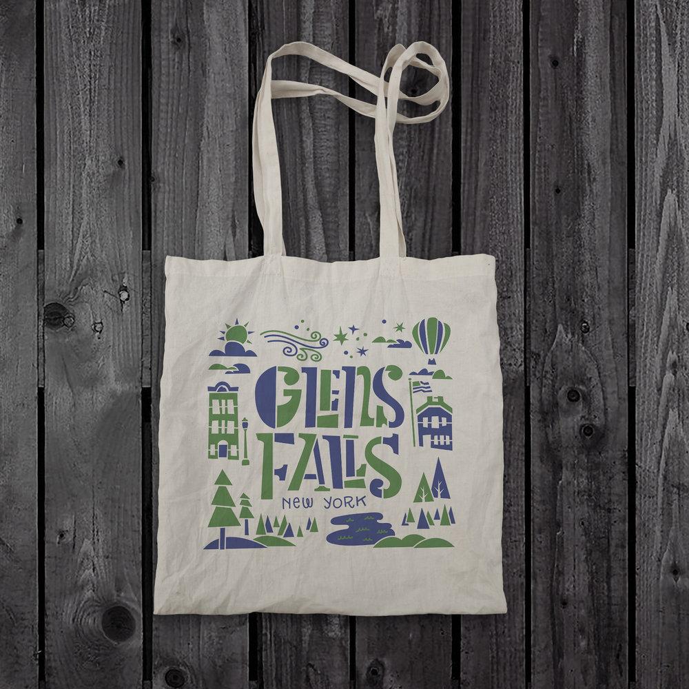 Glens Falls Tote Bag Design