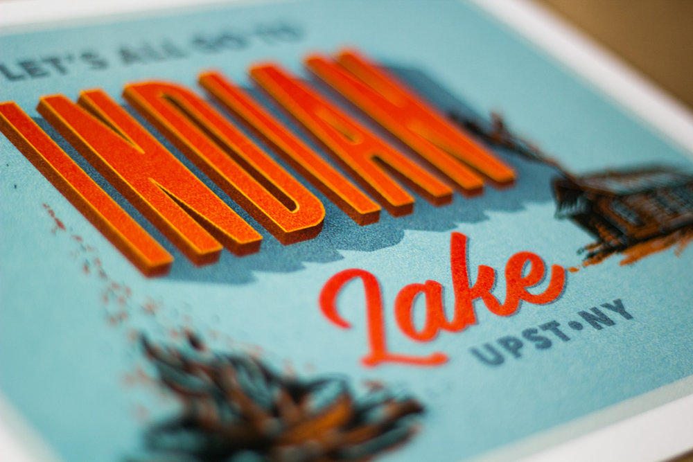 Indian Lake Print Design & Illustration