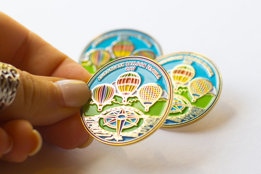 2017 Adirondack Balloon Festival Logo and Pin Design