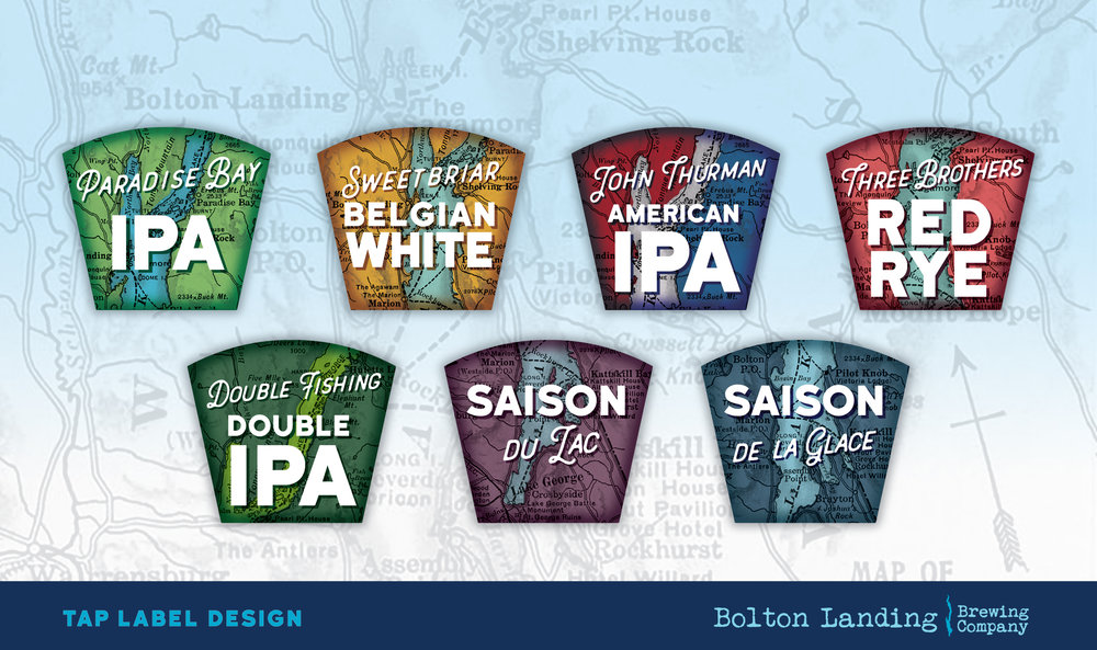 Tap Label Design for Bolton Landing Brewing Co.