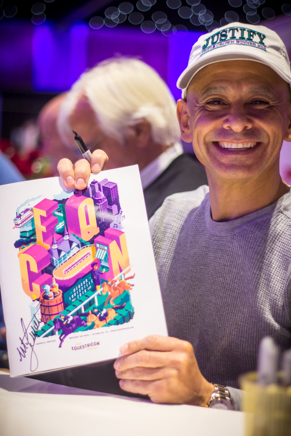Triple Crown Winner Mike Smith! - …with our 2018 Equestricon Poster