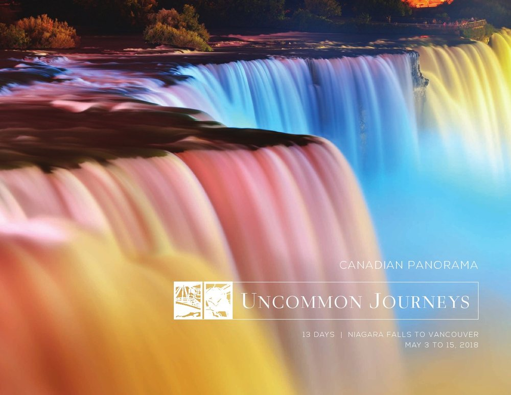 2018 Canadian Panorama 13 Days Niagra Falls to Vancouver May 3rd to May 15th, 2018