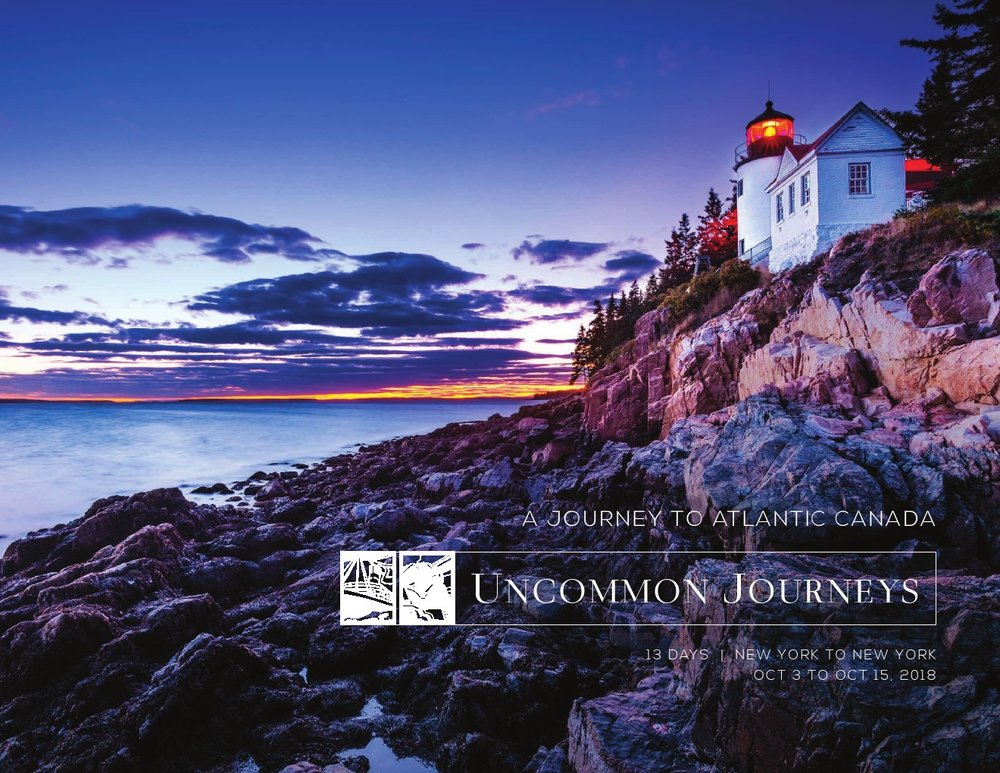 2018 Journey to Atlantic Canada 13 Days New York to New York Oct 3rd to Oct 15th, 2018