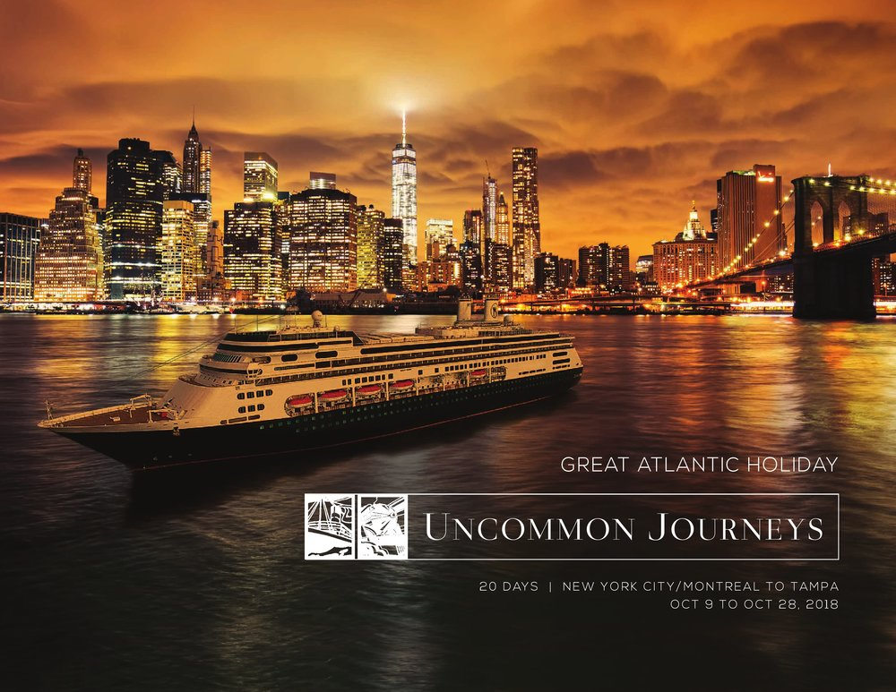 2018 Great Atlantic Holiday 20 Days New York City/ Montreal to Tampa October 9th to October 28th, 2018