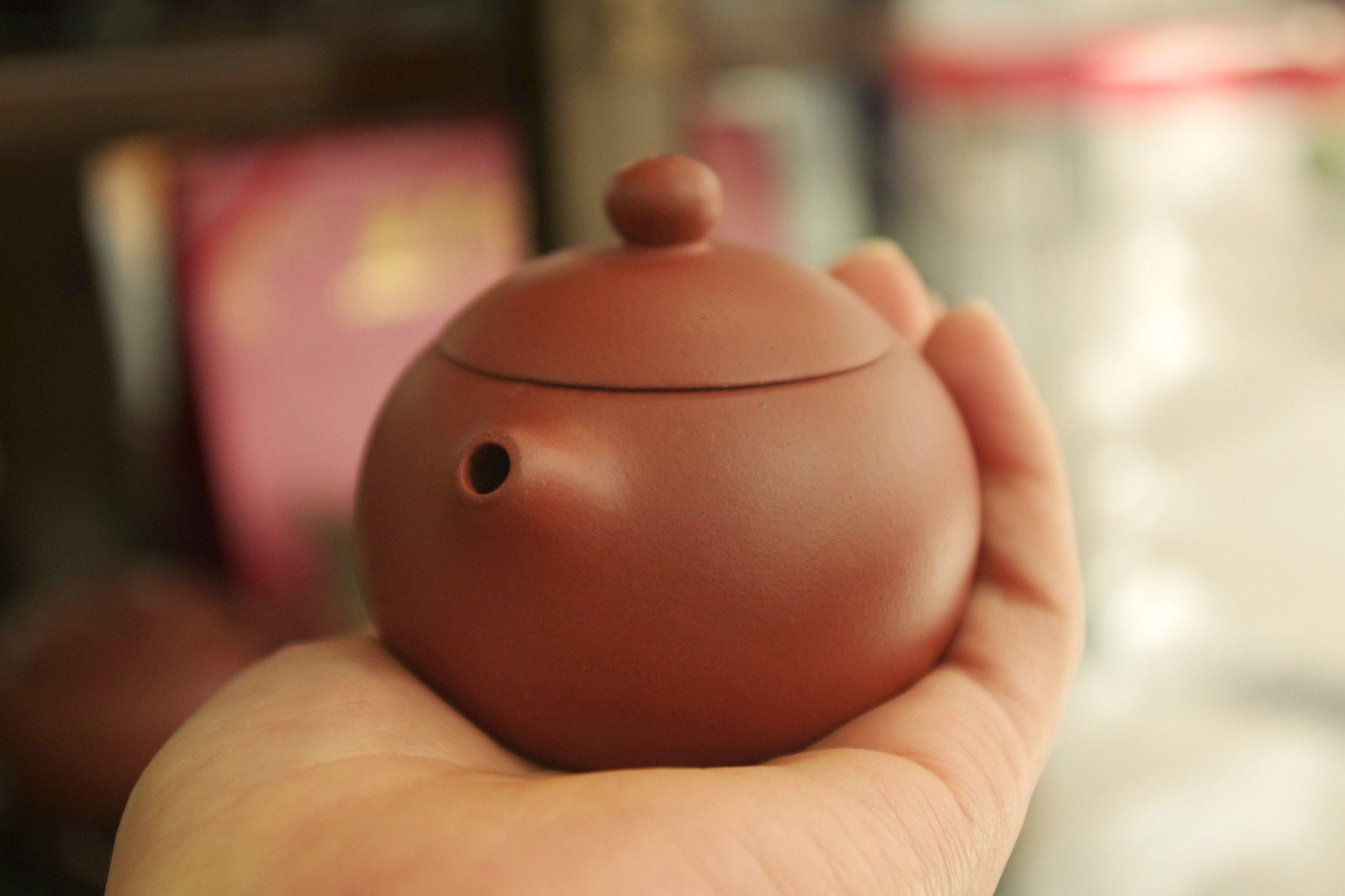 Yixing teapot in my palm