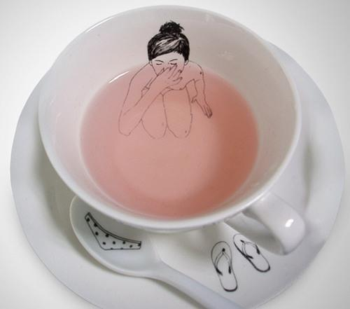 naked ladies in a cup