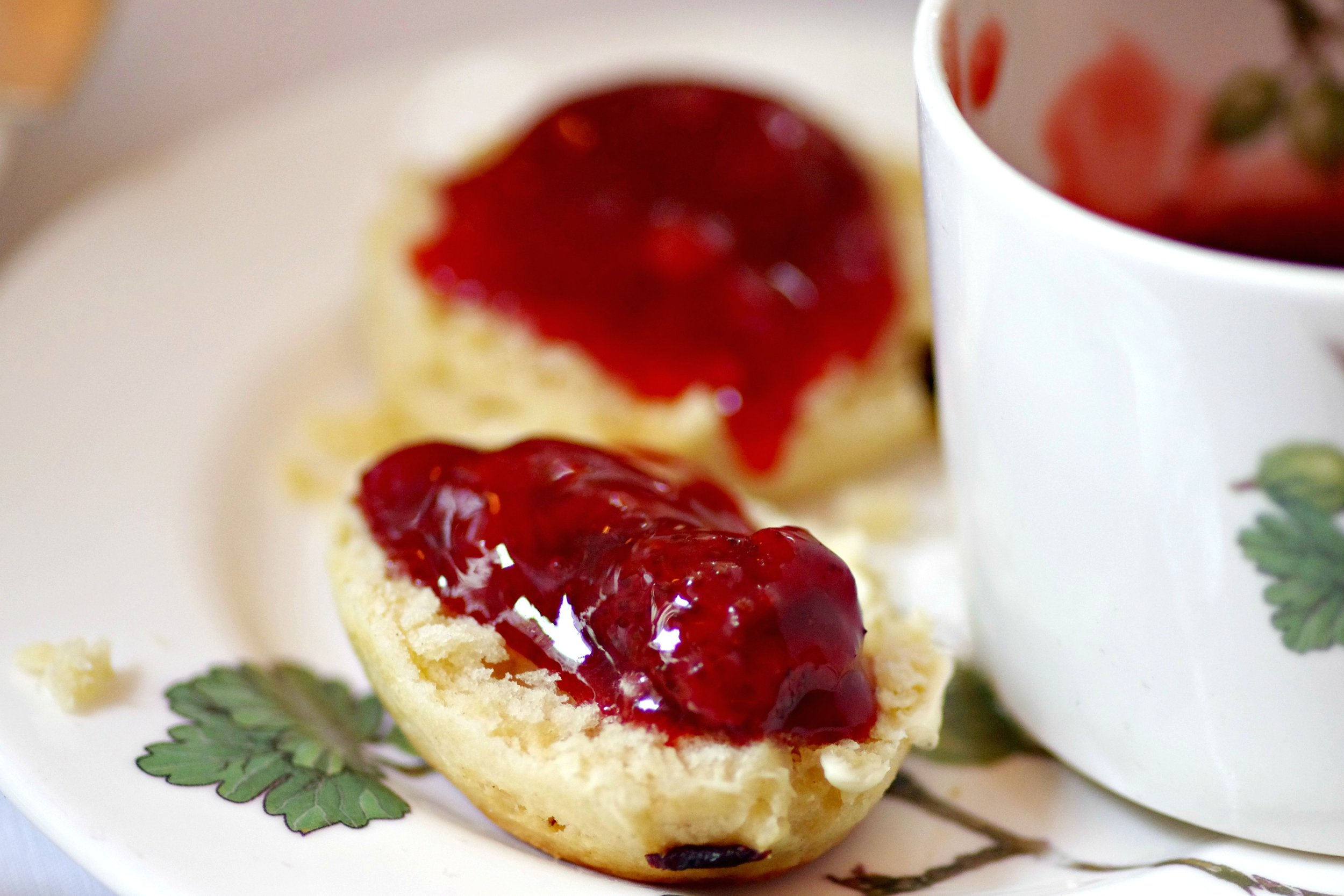 scones and jam close up