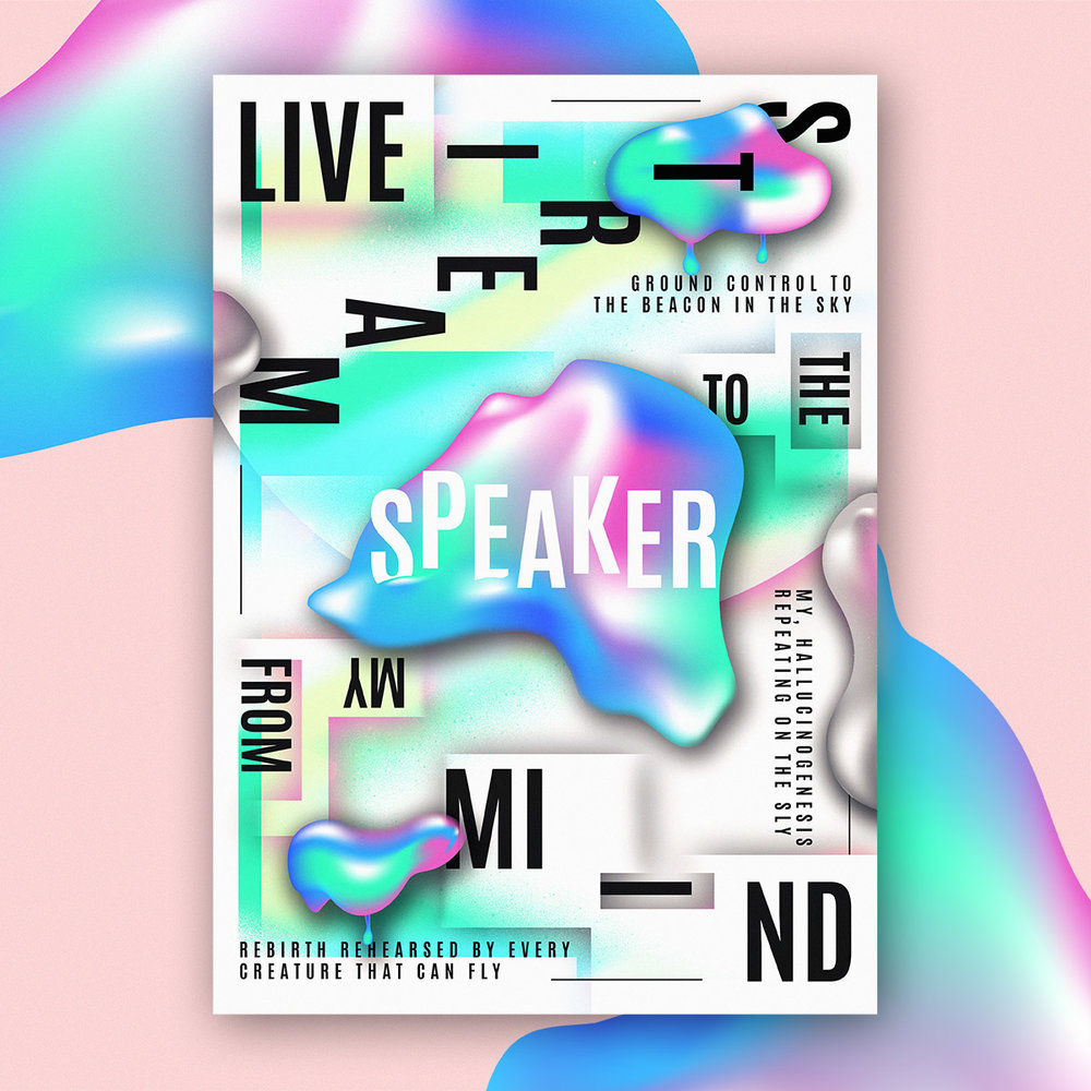 Poster Design using lyrics by Jam Baxter
