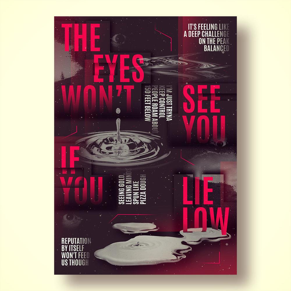 Verb T - Lyric Poster Design - Ollie Johns London 2018