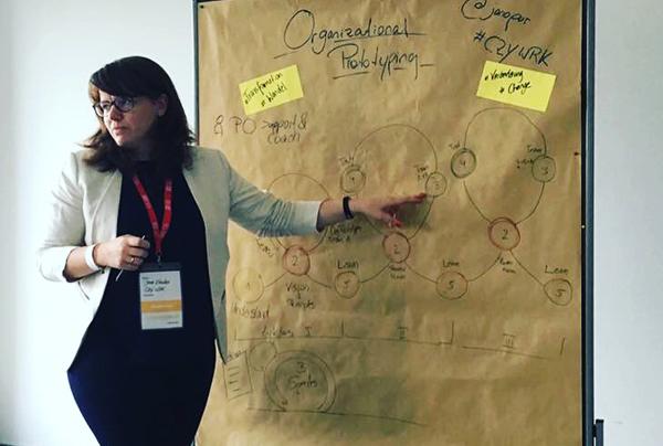Genopreneurship Summit 2016 - Auf dem Geno-Summit 2016 in Köln durfte Jana die Idee hinter CZY WRK - der von ihr mit gegründeten Genossenschaft vorstellen, sowie in OrgPrototyping einführen, das durch sie entwickelte Modell, um Veränderungen in Organisationen mit kleinen Prototypen zum Leben zu bringen.Mehr