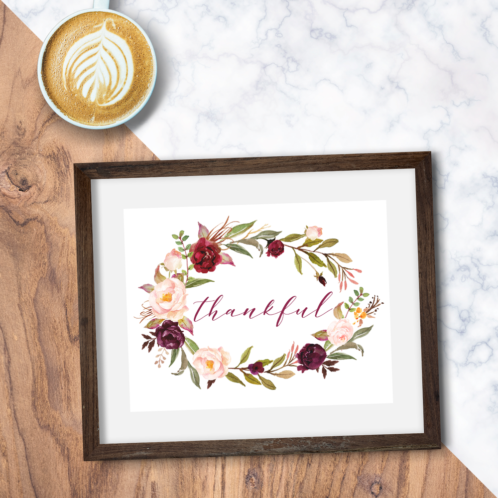 Click the image to shop this print, now available in all sizes. I hope it reminds you to be thankful, and to be thankful in your actions, too.