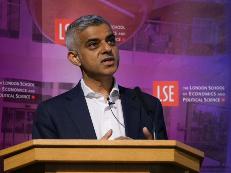 The London Mayor, Sadiq Khan, at the LSE.