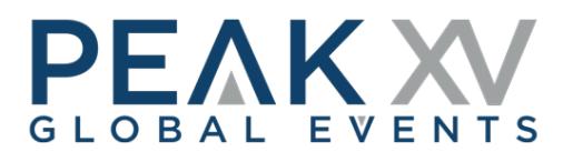 PeakXV Global Events