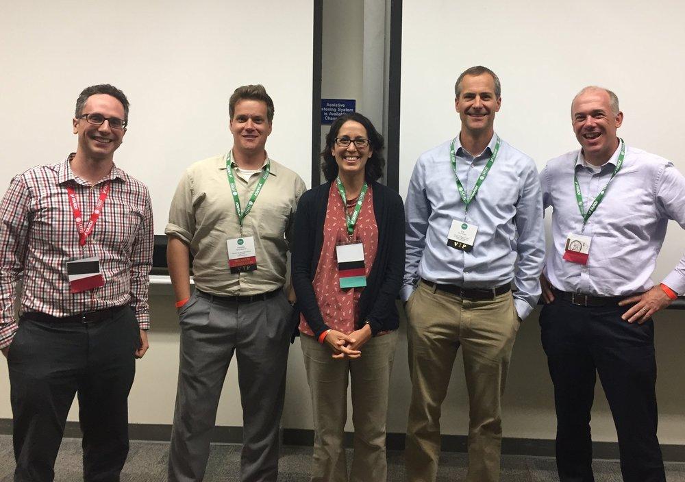 The panel at CHESC 2018 (  Left to right) Tyler Durchslag-Richardson,Fletcher Alexander,Lindsey Kalkbrenner,Eric Eberhardt, Dave Karlsgodt