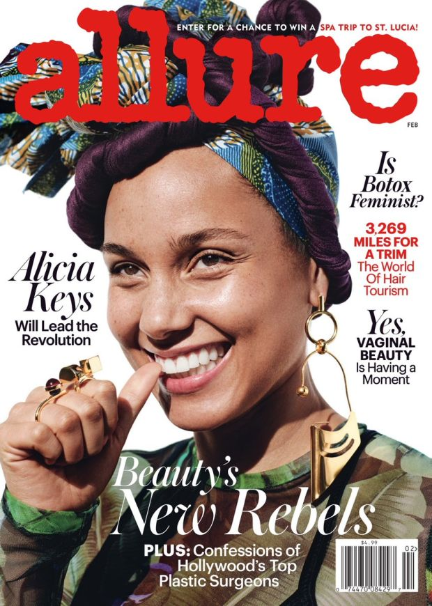 Alicia Keys: No makeup movement.