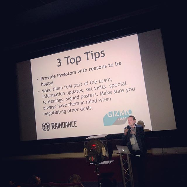 amazing presentation about film finance by executive producer Peter Dunphy from Gizmo Films at the Raindance Film Festival in London. #film #finance #raindance #london