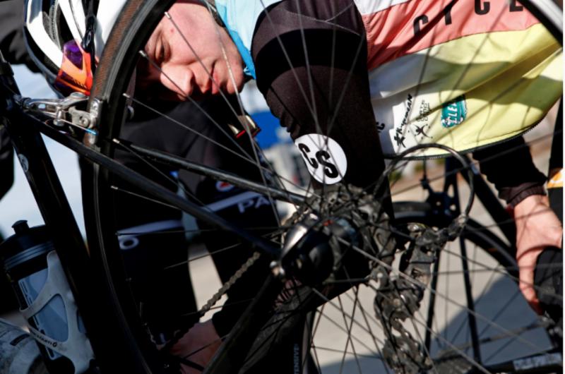 Merv Davis of Cycle-Smart team Cyclus Sports. Photo:Brian Blanco/Post-Gazette.