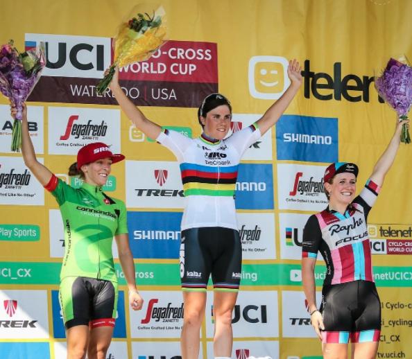 Ellen Noble places 3rd at the Trek Waterloo World Cup in the Elite Women.