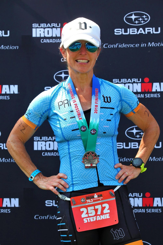 Stefanie Magnuson at IM 70.3 Canada earlier this year