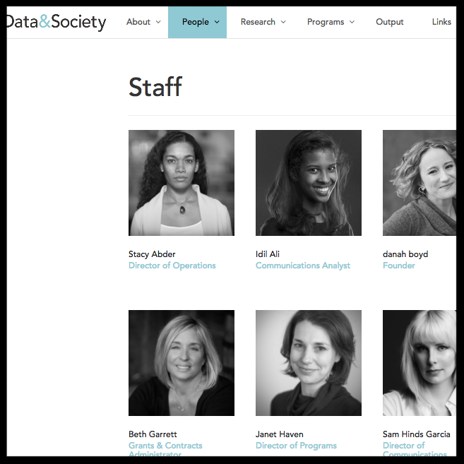 Data & Society Data & Society is a research institute in New York City that is focused on the social and cultural issues arising from data-centric technological development.