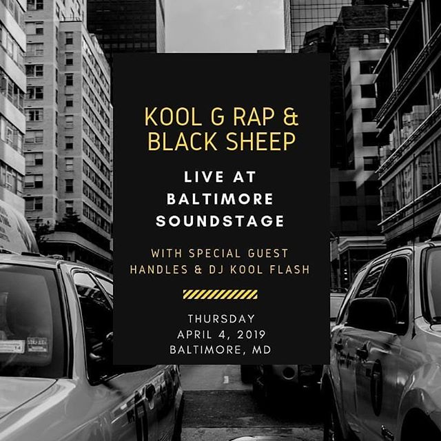 This Thursday (4/4), we're back at it! Myself and the sis @djkoolflash will be rockin' at @bmoresoundstage with @kgrfilms and @blacksheepdres - Another dope night for Hip Hop so get your tickets if you haven't yet and pull up EARLY! Doors open at 7:30p.. See y'all there.. HHI❤ _________________________ #baltimoresoundstage #koolgrap #blacksheep #handles #djkoolflash #realhiphop #live #maryland
