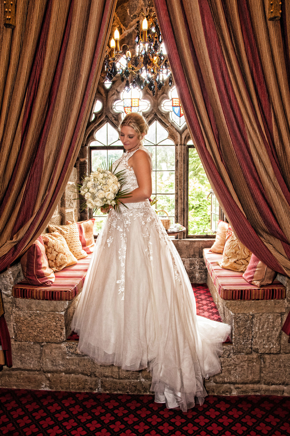 Langley Castle bride