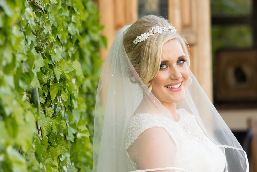 Beautiful bride at the South Causey Inn